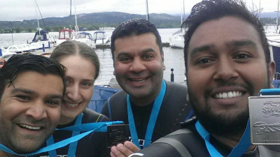 Disciples and first time participant Elizabeth Gwilt complete Great North Swim to raise money for Save the children