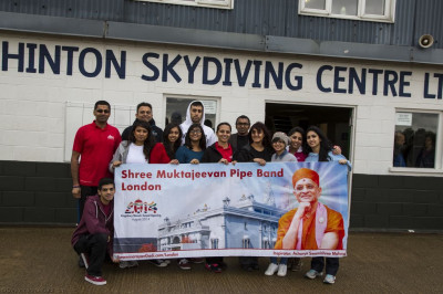 Skydivers assemble at Hinton Airfield, Northants