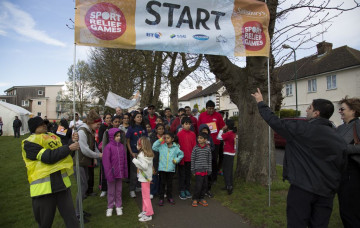 Sport Relief Mile at Shree Swaminarayan Mandir & Queen Elizabeth Olympic Park
