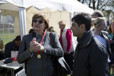 Councillor Ruth Moher gives an interview and speaks about the value of local charitable events