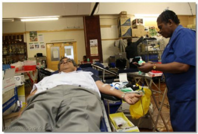 Blood being taken from a donor