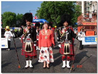 Drum Majors with the Honourable Mayor