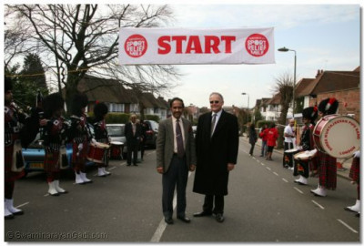 Cllr. Harshadbhai Patel and Cllr. Reg Colwill take in the atmosphere