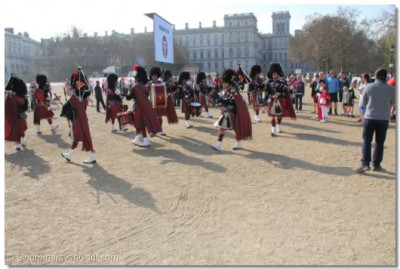 The band in performance at Horse Guards Parade Pall Mall Buckingham Palace