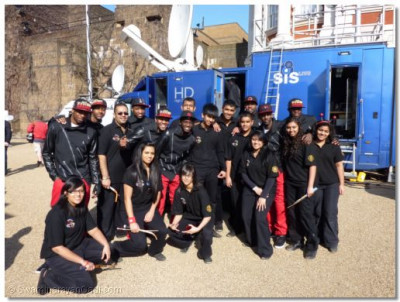Shree Mukatejeevan Dhol Academy with Britan's Got Talent's dance group Diversity