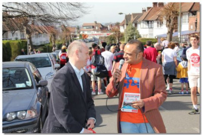 Mike Freer MP talks about the run
