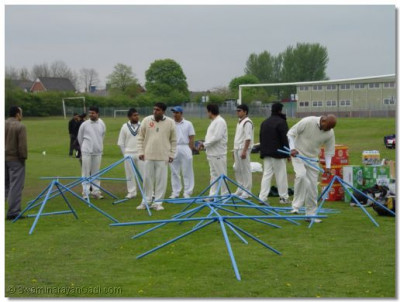 Teams prepare for the matches