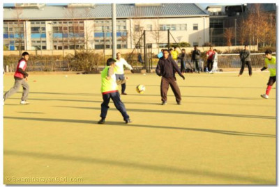 Football Tournament for the adults in progress