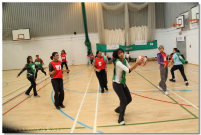 Netball Tournament game in progress