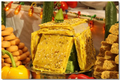 One of the many traditional different sweets are offered to Lord Shree Swaminarayanbapa Swamibapa