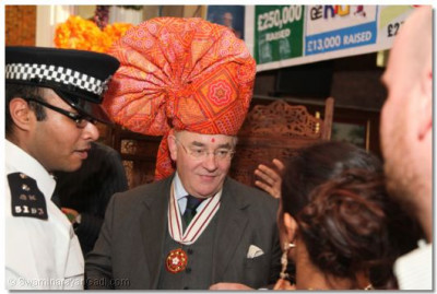 Deputy Lieutenant Mr Martin Russel with a paag