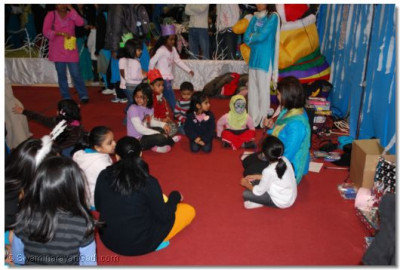 Various childrens activities were available to keep them entertained