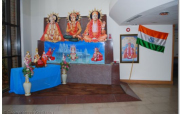 Padhramani at the New Site of London Mandir