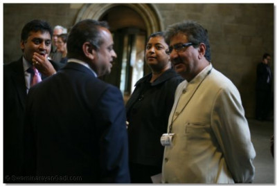 Anil Bhanot, General Secretary of Hindu Council UK, in conversation at Westminster Hall