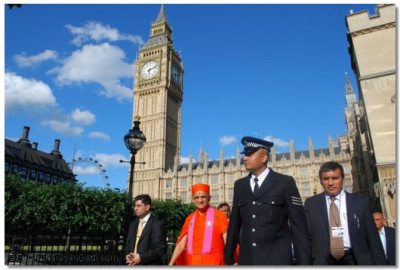 Acharya Swamishree departs from House of Commons