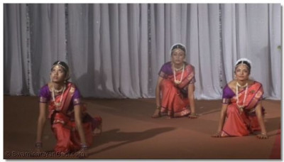 Dancers from the Shree Muktajeevan Dance Academy performing the 'surya namaskaar'
