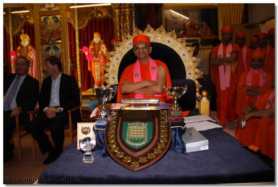 Awards and trophies awards to disciples of Shree Swaminarayan Temple London