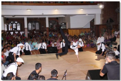 'River Dance' performance by members of Shree Muktajeevan Arts and Culture Academy