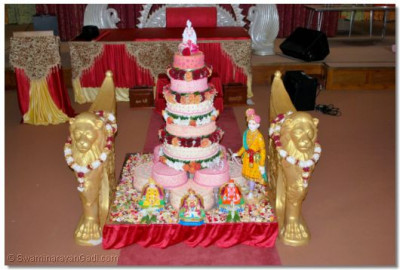 Cake prepared for Fathers Day and Acharya Swamishree's 69th Birthday