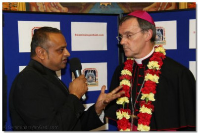 Shree Prem Patel interviews The Emissary of The Archbishop of the Diocese of Westminster Bishop Arnold