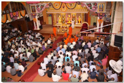 Devotees gathered for the celebrations