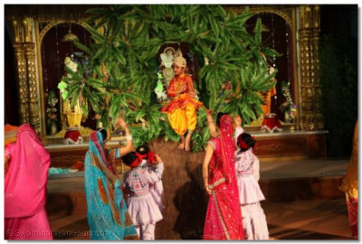 Vah Re Ghanshyam - Lord Ghanshyam's family and friends try to call him down from the tree
