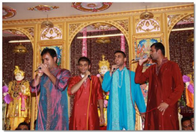 Singers in performance
