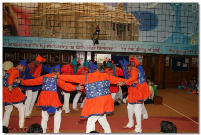 Young disciples during a dance performance