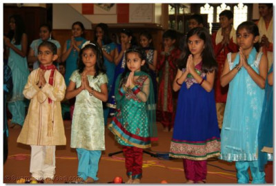 Young students during the performance