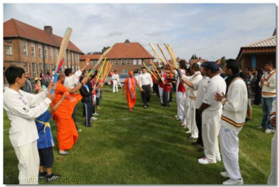 Members of all the sporting activities gave a guard of honour