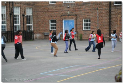 Disciples playing netball