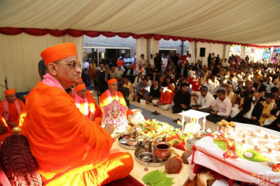 Acharya Swamishree commences the mahapooja