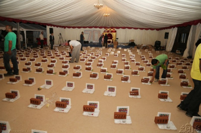 Mahapooja ceremony items being prepared