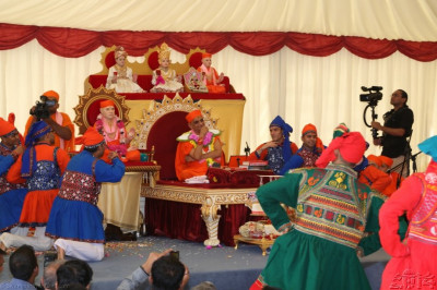 A dance performance to the kritan ''Prit Bandhani''