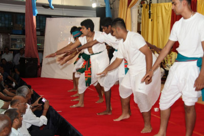 "Disciples perform an energetic  ""Bollywood "" style dance"