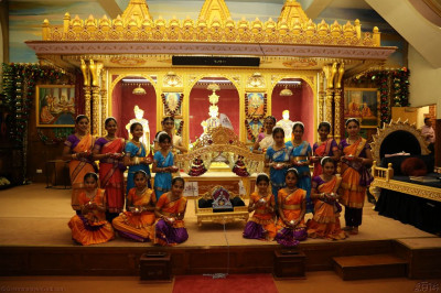 Young disciples who performed in the Bharatanatyam dances