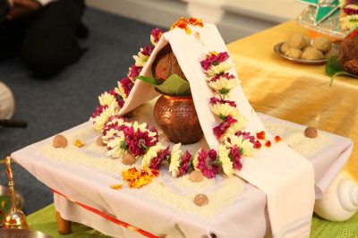 The mahapoojan ceremony items