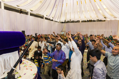 The chanting of the Lord's divine name marks the end of a fantastic evening of celebration