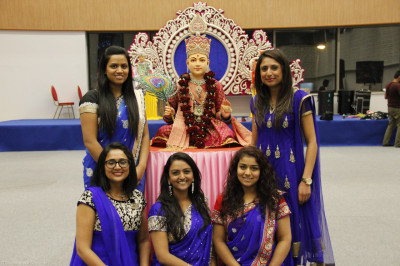 Disciples who performed during the ladies Diwali raas
