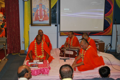 A special 'swagat-sabha' held on Saturday evening to officially welcome the sants to London