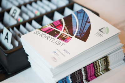 Booklet of shortlist for the London Planning Awards competition