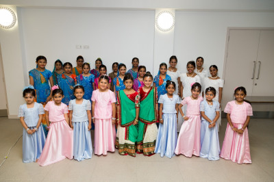 Young disciples in their dance dress ready for their performances
