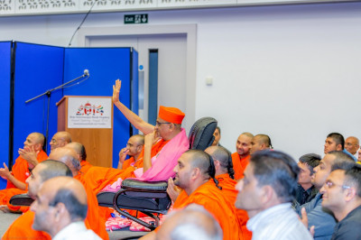 His Divine Holiness Acharya Swamishree blesses all performers