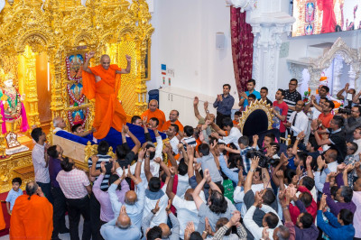 Disciples rejoice as the fanastic evening of devotional songs concludes