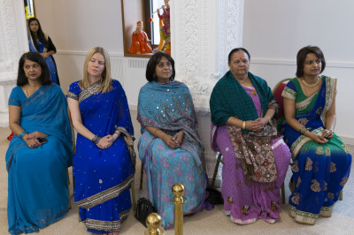 Prossective local Conservative candidates and councillors arrive at Shree Swaminarayan Mandir Kingsbury