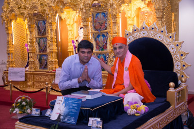His Divine Holiness Acharya Swamishree blesses all disciples who are teachers or teaching assistants of Swamibapa Gujarati School