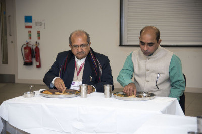 Shri Bhupendrasinh Jii Chudasama and honoured guests dine