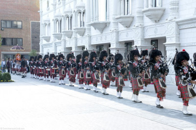Shree Muktajeevan Pipe Band perform to please Lord Shree Swaminarayanbapa Swamibapa