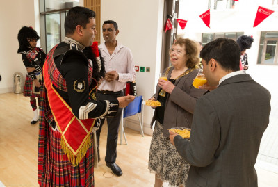 Members of Shree Muktajeevan Pipe Band London explain the formation of the Band and its recent history