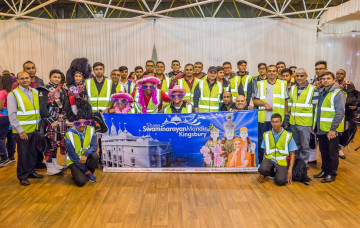 Over 150 Volunteers from Kingsbury Mandir support local hospice